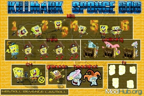 تحميل كيل مارك سبونج بوب لكروس فاير - Download kill mark Sponge Bob For Crossfire Gugaspongebob