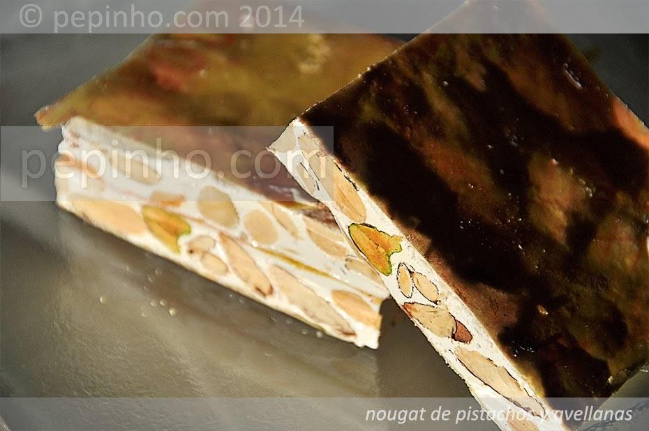 Nougat de pistachos y avellanas
