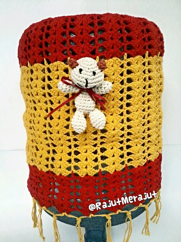 Tutup Galon Rajut, Crochet Gallon Cover