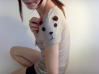 camiseta customizada urso