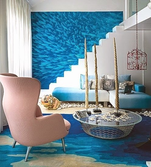 13 out of this world rooms that take you under the sea for Ocean themed interior design