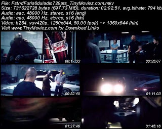 Fast And Furious 6 (2013) 720p TSRip Dual Audio 700MB
