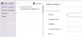 añadir nuevo contacto