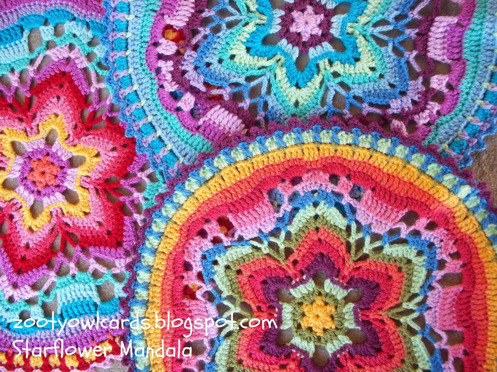Zooty Owl S Crafty Blog Starflower Mandala Row By Row
