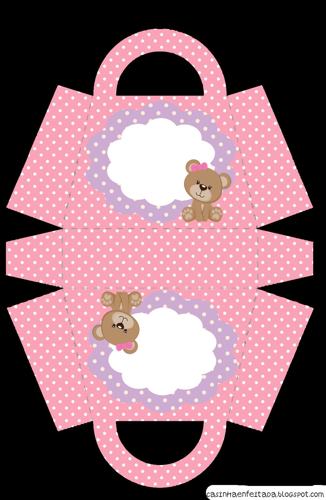 Bolsa De Festa Roxa : Casinha de crian?a kit festa ursinha rosa para imprimir