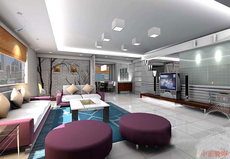 Dekorasyonu bej renklerle dizayn edilen gösterişli lüks salon