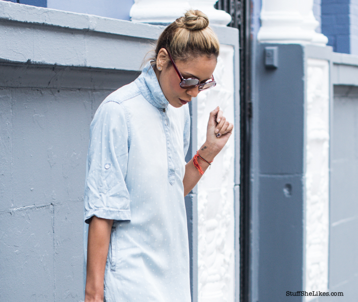 Shirtdress, Los angeles, Blogger, fashion Blogger, Top Fashion Blogger, Los Angeles Fashion Blogger, Best Fashion blogger, Blonde Fashion Blogger, Denim Dress, Stuff She Likes