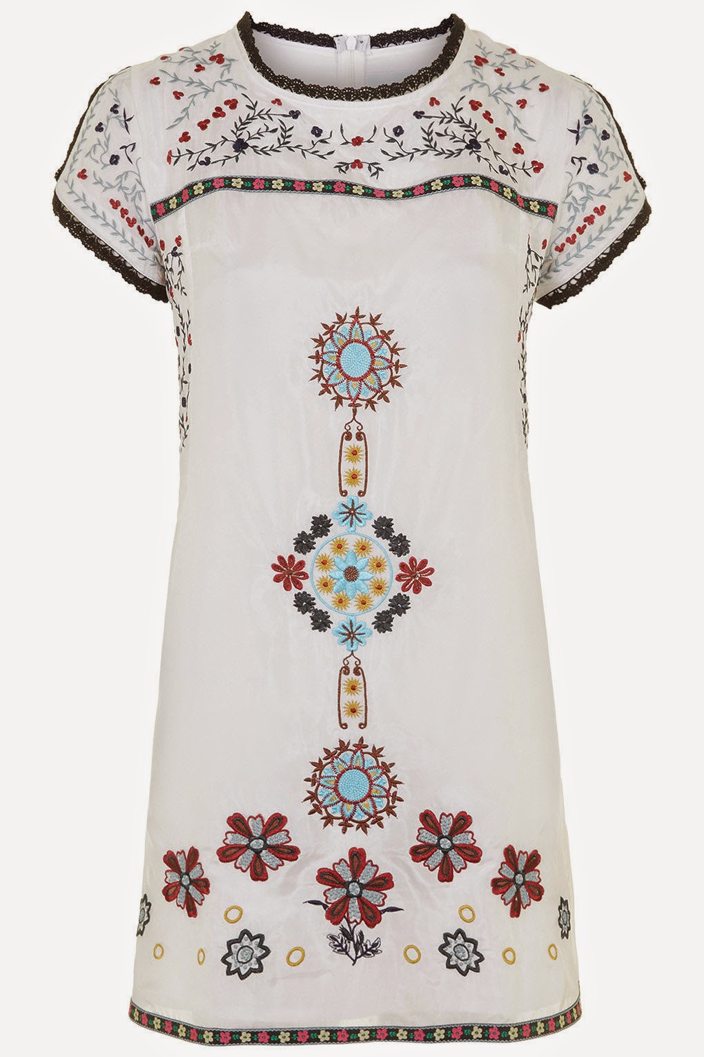 jovonna embroidered dress, white dress with pattern,