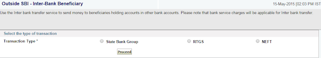 Money Transfer to Other bank