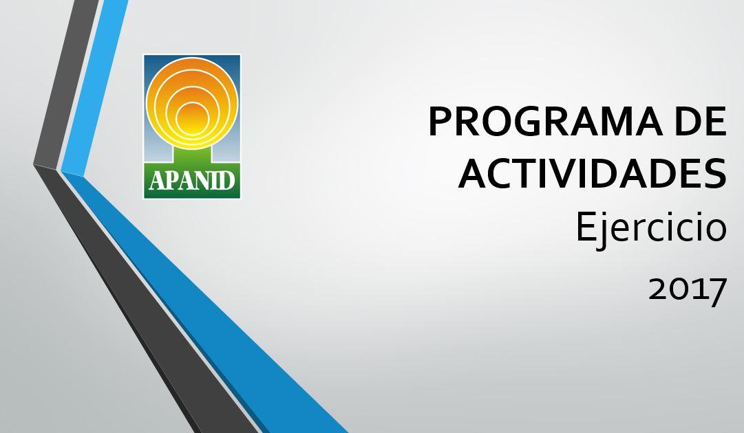 Programa Actividades 2017