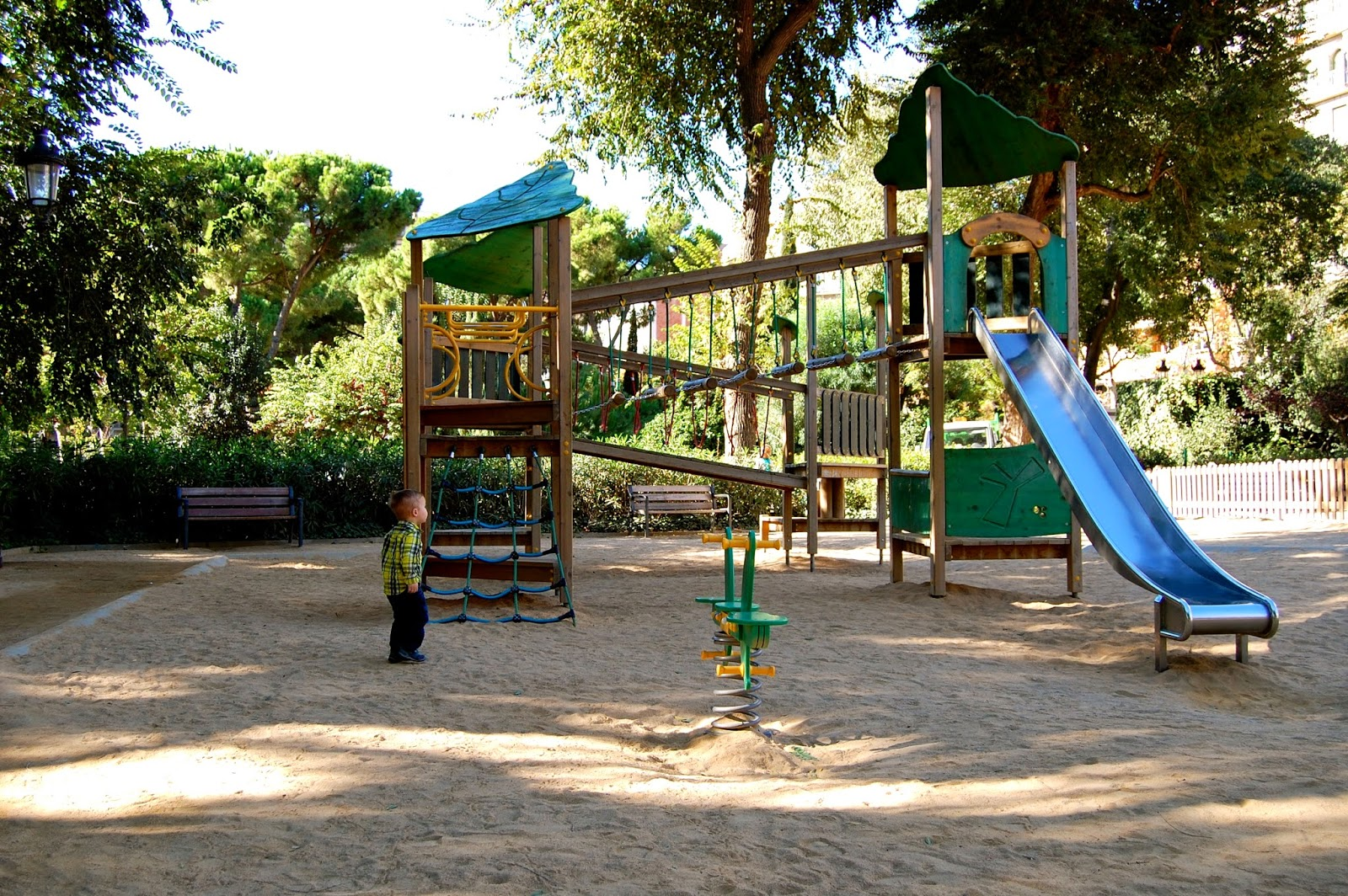 Climbing set in the playground