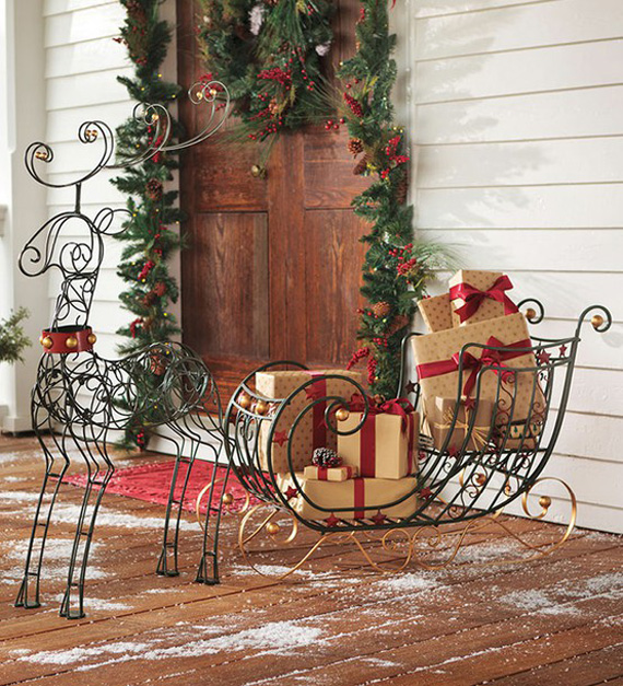 alamodeus holiday project decorated sleigh. Black Bedroom Furniture Sets. Home Design Ideas