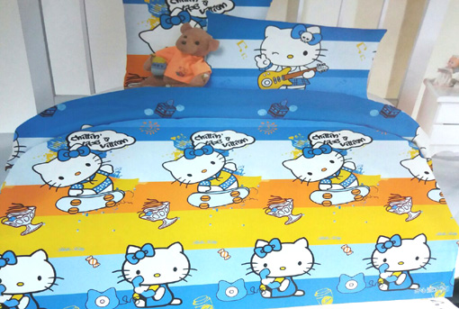 Sprei Anak Motif Blue Kitty