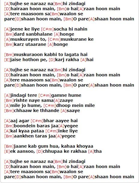 Music\' is not just a Word, but a World: Tujhse Naraz nahi Zindagi ...