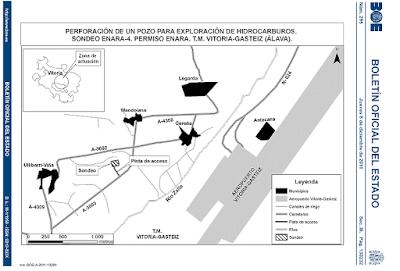 mapa pubicado en el BOE