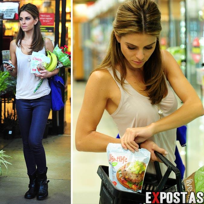 Maria Menounos fazendo compras em supermercado de Beverly Hills - 09 de Outubro de 2012