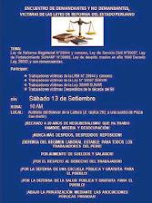SABADO 13 DE SETIEMBRE HORA: 10.00 AM ASAMBLEA DE DEMANDANTES Y NO DEMANDANTES
