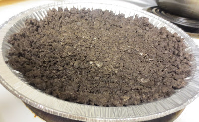 Oreo crust - 3 ingredient chocolate cool whip pie