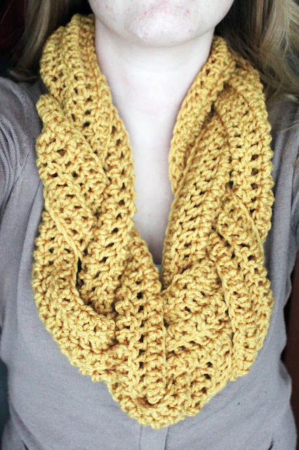 Crocheting Ends Of Infinity Scarf Together : Take your three mini scarves and braid them together (I braided t...
