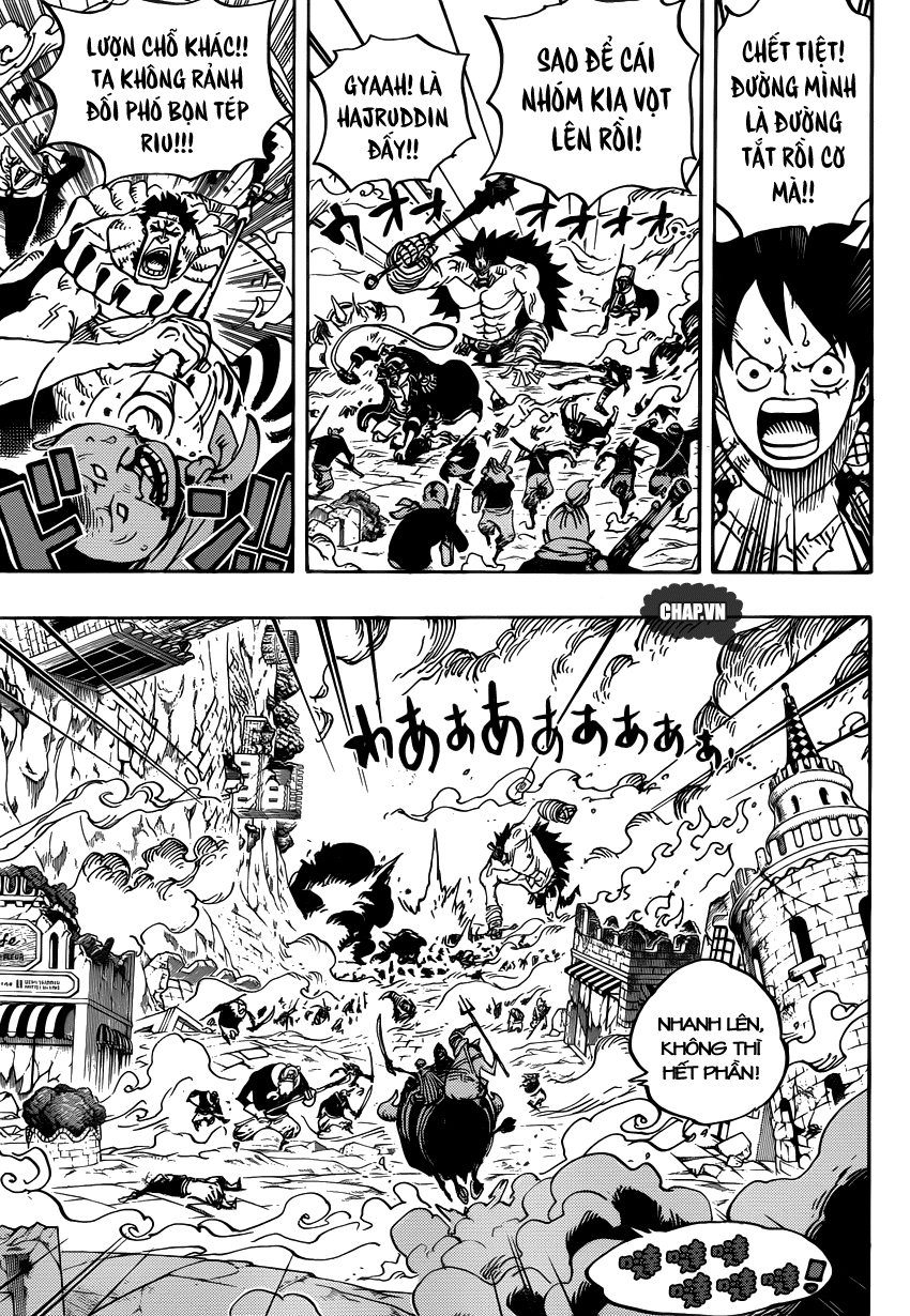 One Piece Chapter 751: Sabo vs. Đô đốc Fujitora 009