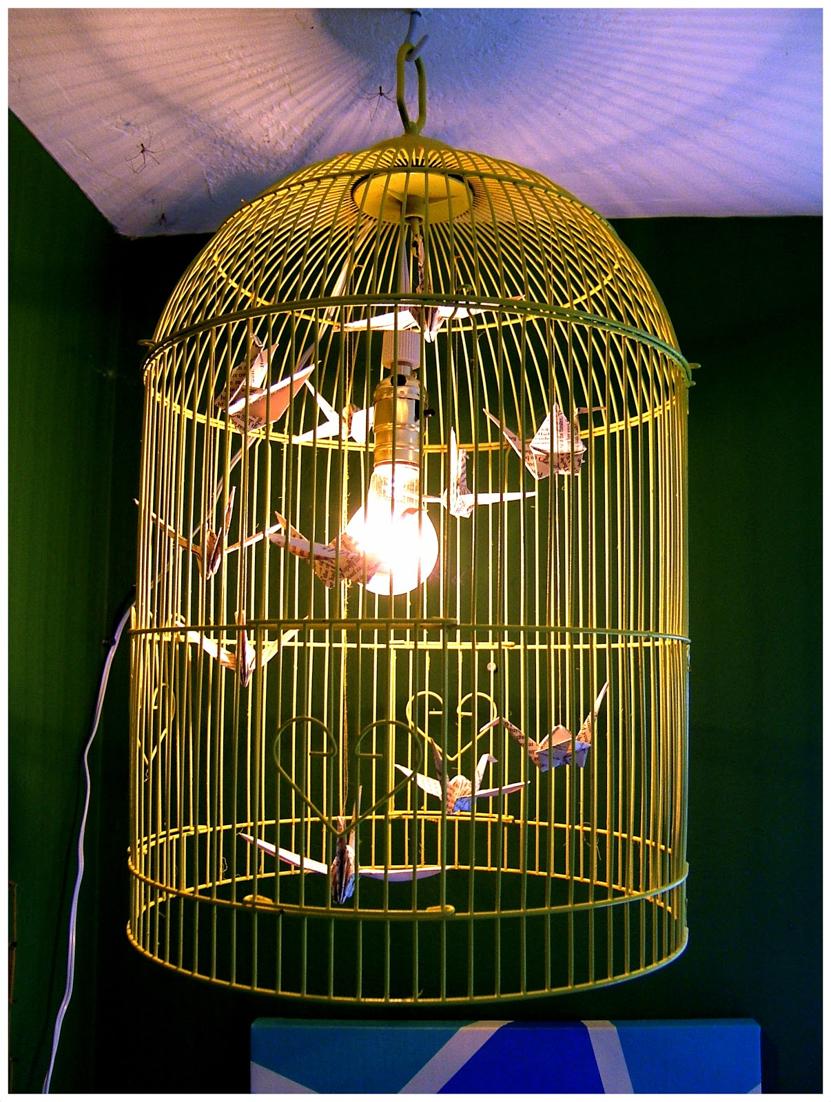 Nine red how to bird cage chandelier aloadofball Gallery