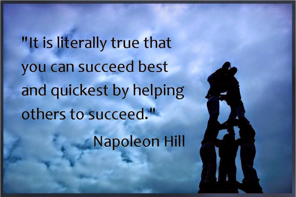 Napoleon Hill quote about succeed by helping others succeed Beachbody Coaching