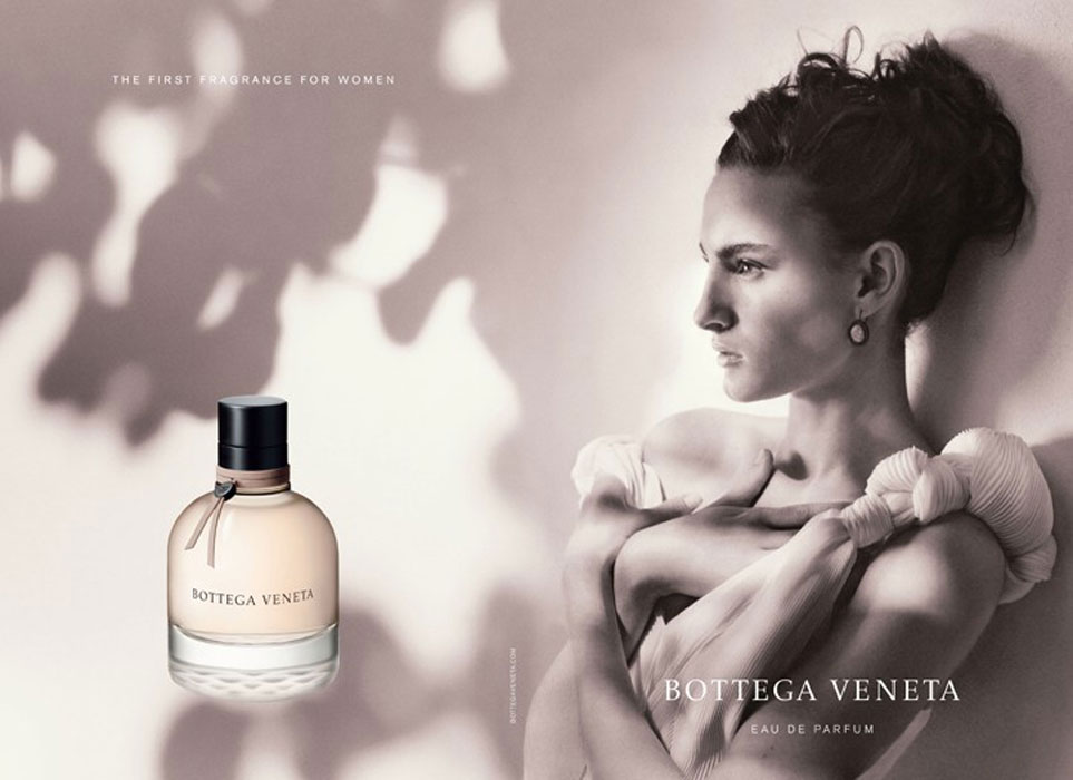 via fashioned by love | Nine d'Urso in Bottega Veneta perfume campaign photographed by Bruce Weber