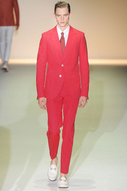 Male model Johannes Niermann S/S 2013 Gucci