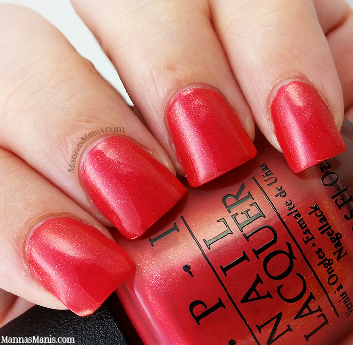 OPI Hawaii Go With the Lava Flow, red shimmer nail polish