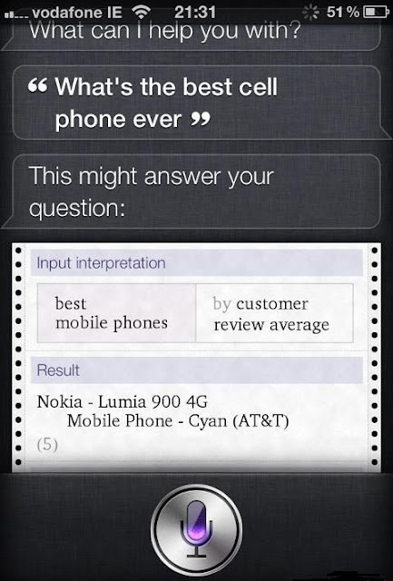 Apple's Siri says Windows Phone is Best Smartphone