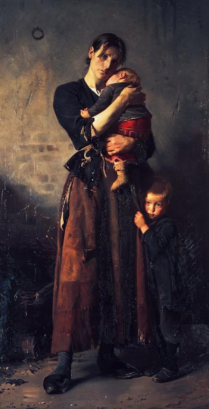Forladt, dog ej af venner i nøden, af Frants Henningsen, 1888