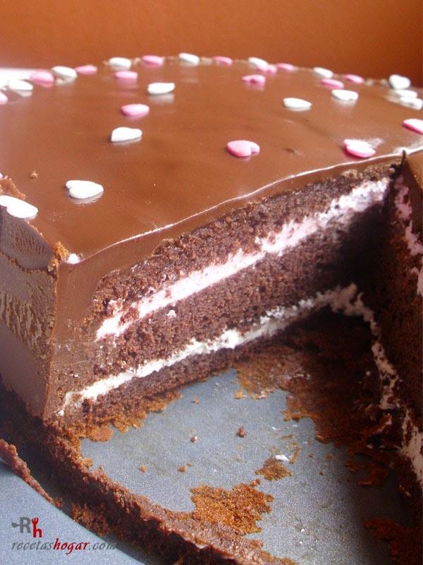 Tarta de chocolate, nata y granadina - Portada - 3