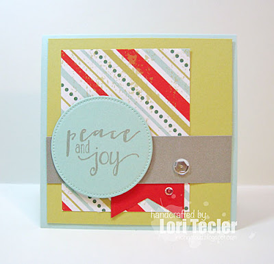 Peace and Joy card-designed by Lori Tecler/Inking Aloud-stamps from Papertrey Ink