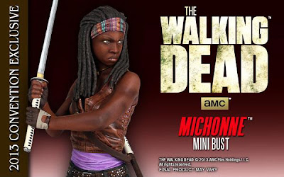 San Diego Comic-Con 2013 Exclusive The Walking Dead Michonne Mini Bust by Gentle Giant