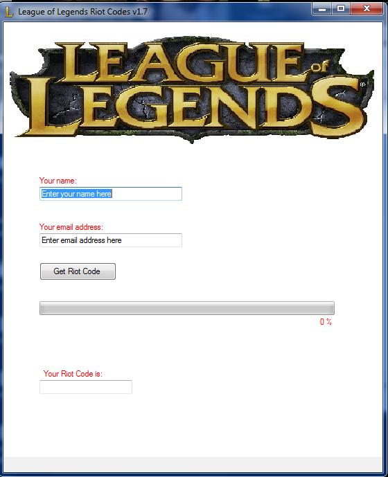 league of legends code giveaway