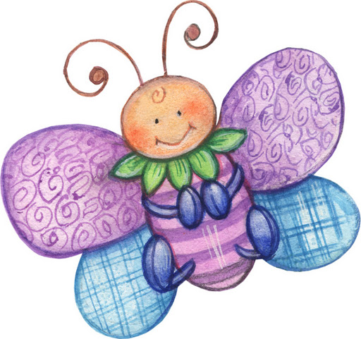 Mariposas infantiles para imprimir - Imagenes y dibujos para imprimir ...
