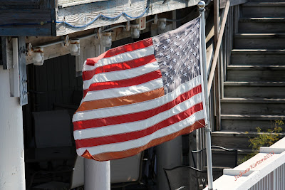 The flag of the united states flying as old glory in might and majesty