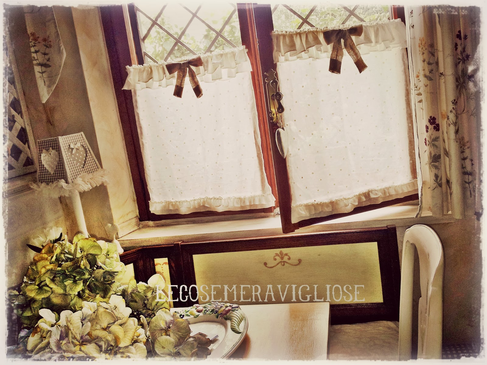 Lecosemeravigliose shabby e country chic passions tende for Mantovane per tende stile country