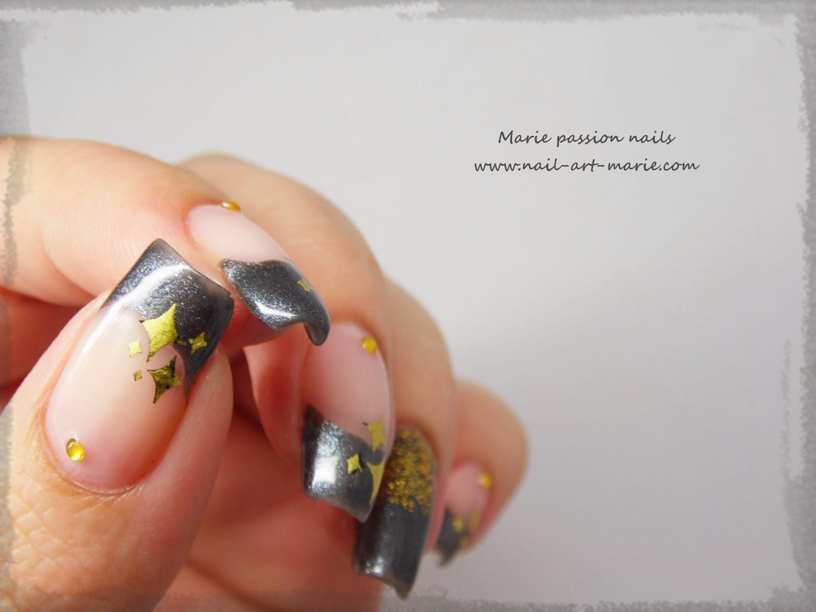 nail art stamping au foil4