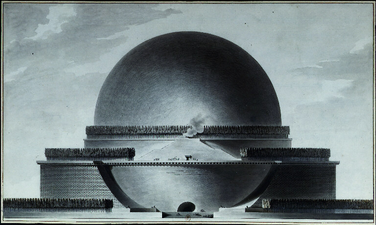 Unbuilt cenotaph to Sir Isaac Newton