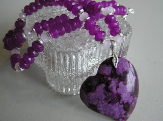 Purple Hearted Necklace  by crafterbyheart