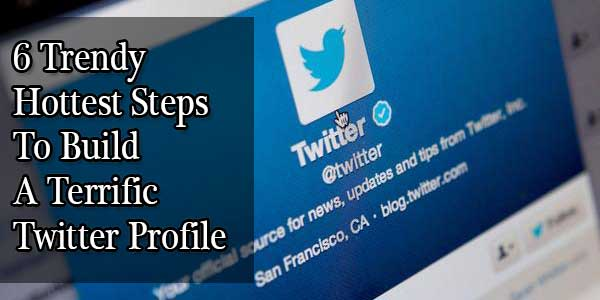 6 Trendy Hottest Steps To Build A Terrific Twitter Profile