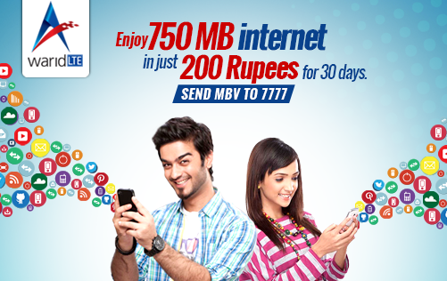 Warid 4G LTE Prepaid Packages