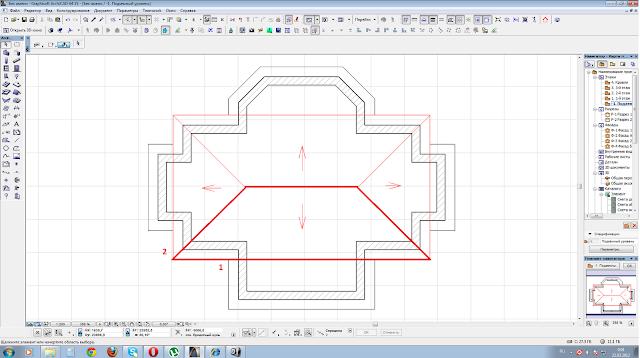 Как сделать кривую крышу в архикаде