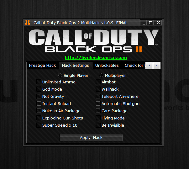 Call Of Duty Black Ops II Multihack V1.2 Final Version Plus Tutorial