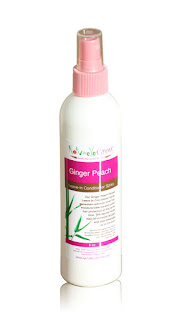 NaturelleGlow Ginger Peach Herbal Leave-In Conditioning Spray for Hair Growth
