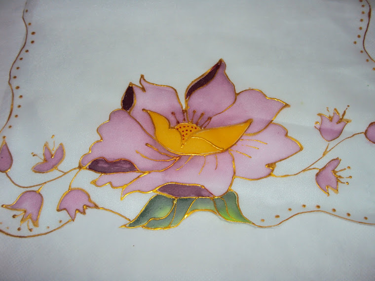 Pintura em Voil - Flor Lilás