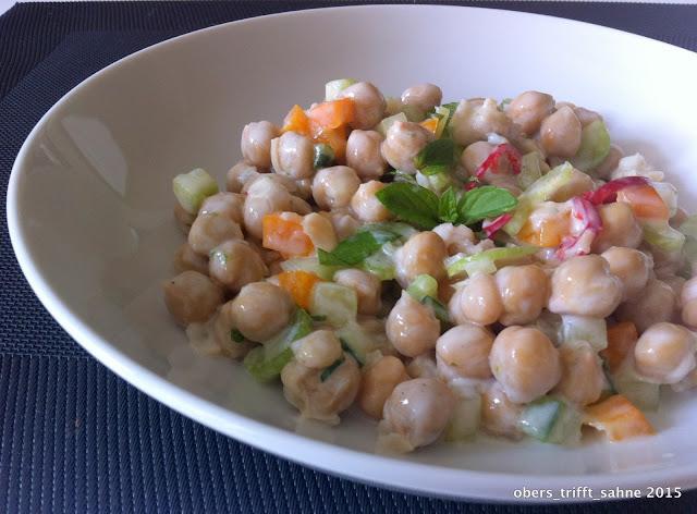 Kichererbsen als salat