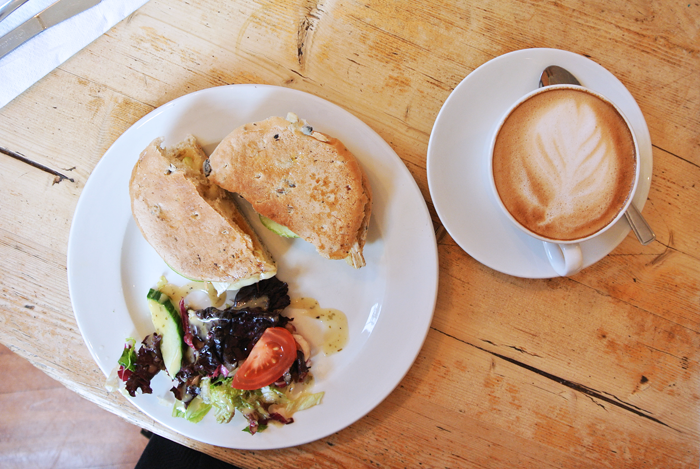 Sandwich and latte at The Elephant House, Edinburgh