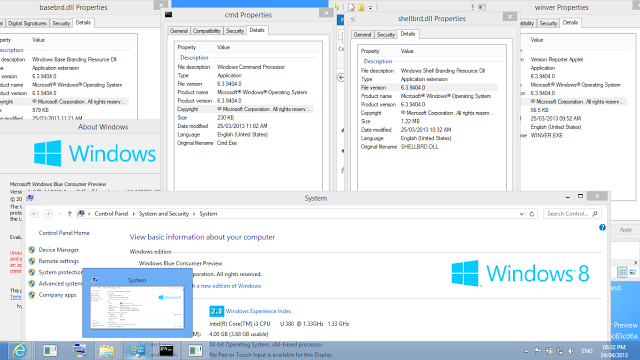Inilah Foto Terbaru Windows Blue consumer preview build 9404